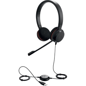 Jabra EVOLVE 20 Wired Stereo Headset - Over-the-head - Supra-aural - USB - Noise Canceling