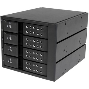 StarTech.com 4 Bay Aluminum Trayless Hot Swap Mobile Rack Backplane for 3.5in SAS II/SATA III