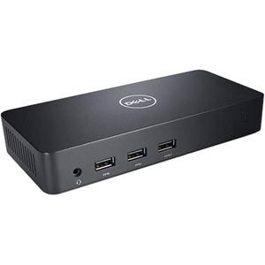Dell D3100 USB 3 0 Docking Station for Notebook - Black - 6 x USB Ports - 2  x USB 2 0 - 4 x USB 3 0 - Network (RJ-45) - HDMI - DisplayPort -
