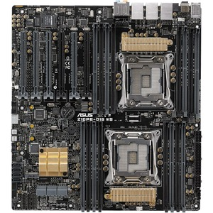 Asus Z10PE-D16 WS Desktop Motherboard - Intel C612 Chipset - Socket LGA 2011-v3 - SSI EEB - 2 x Processor Support - 1 TB DDR4 SDRAM Maximum RAM - 2.13 GHz Memory Spe