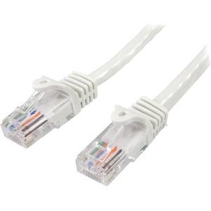 StarTech.com 1m White Cat5e Snagless RJ45 UTP Patch Cable - 1m Patch Cord - 1x RJ-45 Male Network