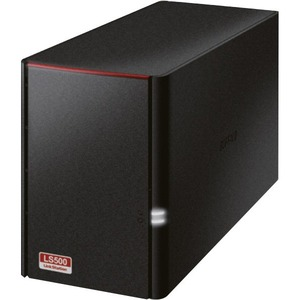 Buffalo LinkStation LS520D 2 x Total Bays NAS Server - Desktop - Dual-core 2 Core 1.10 GHz - 6 TB HDD - 256 MB RAM DDR3 SDRAM - Serial ATA/300 - RAID Supported 0,