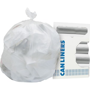 """Heritage Heavy-guage 0.6mil Can Liners - 7 gal - 20"""" Width x 22"""" Length x 0.24 mil (6 Micron) Thickness - High Density - Natural - High-density Polyethylene (HDPE) - 2000/Cart"""