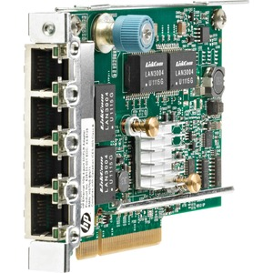 HP 331FLR Gigabit Ethernet Card for Server - PCI Express 2.0 x4 - 4 Ports - 4 - Twisted Pair
