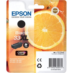 Epson Claria 33XL Ink Cartridge - Black - Inkjet - 530 Page - 1 / Blister Pack - OEM
