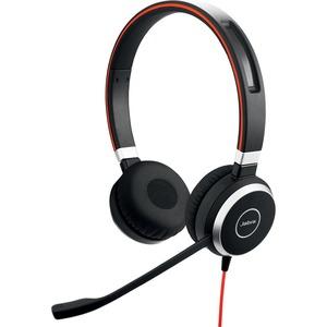 Jabra EVOLVE 40 Wired Over-the-head Stereo Headset - Circumaural - Mini-phone