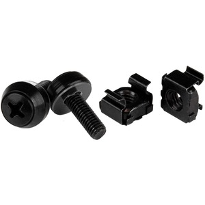 StarTech.com M5 x 12mm, Screws and Cage Nuts, M5 Mounting Screws Andamp; Cage Nuts for Server Rack Andamp; Cabinet