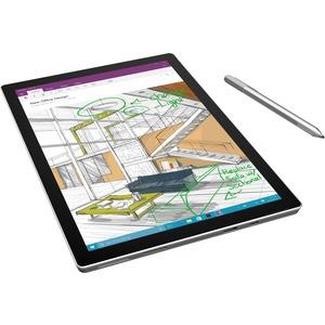 Microsoft Surface Pro 4 Tablet - 31 2 cm (12 3) - 4 GB RAM - 128 GB SSD -  Windows 10 Pro - Silver - Intel Core i5 - microSD, microSDHC, microSDXC