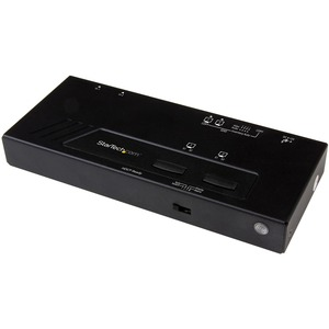 StarTech.com 2x2 HDMI Matrix Switch - 4K with Fast Switching, Auto-sensing and Serial Control