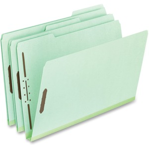 "Pendaflex Legal-size Heavyweight Pressboard Folders - Legal - 8 1/2"" x 14"" Sheet Size - 1"" Expansion - 2"" Fastener Capacity - 1/3 Tab Cut - Top Tab Location - 25 pt. Folder Th"