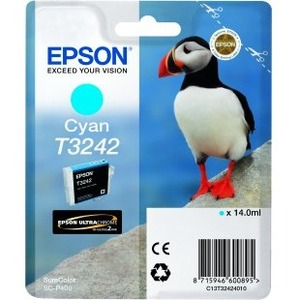 Epson UltraChrome Hi-Gloss2 T3242 Original Ink Cartridge - Cyan - Inkjet - 1 / Pack