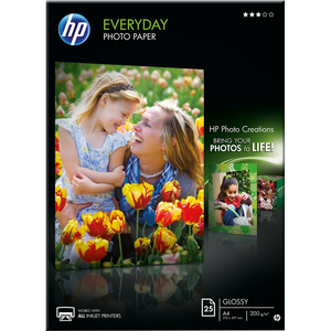 HP Everyday Q5451A Photo Paper - A4 - 210 mm x 297 mm - Semi Gloss - 25 x Sheet
