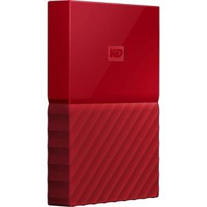 WD My Passport WDBYFT0030BRD-WESN 3 TB Hard Drive - External - Portable -  Red