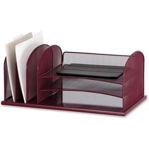 Safco Onyx 3 Tray/3 Upright Section Desk Organizer - 8.3