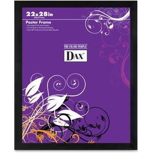 """DAX Square Black Poster Frame - 22"""" x 28"""" Frame Size - Rectangle - Wall Mountable - Horizontal, Vertical - 1 Each - Solid Wood - Black"""