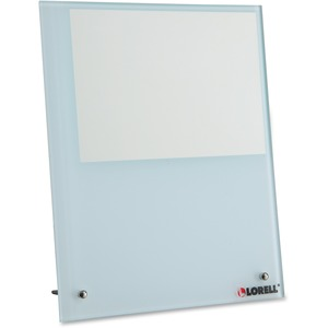 """Lorell Glass Photo Board - 8.25"""" x 10"""" Frame Size - Holds 5"""" x 7"""" Insert - Desktop, Tabletop - Vertical - Stain Resistant - 1 Each - Tempered Glass, Metal - White"""