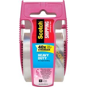 Scotch® Shipping Packaging Tape- Pink Dispenser