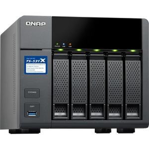 QNAP Turbo NAS TS-531X 5 x Total Bays SAN/NAS Storage System - Tower - Alpine AL-314 Quad-core