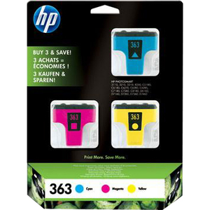 HP No. 363 Ink Cartridge - Cyan, Magenta, Yellow