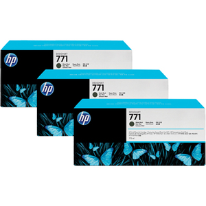 HP 771C Matte Black Ink Cartridge - x3 Pack