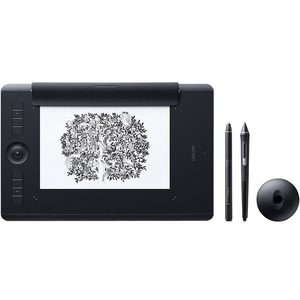 Wacom Intuos Pro PTH-860 Graphics Tablet - 5080 lpi - Touchscreen - Multi-touch Screen - Black
