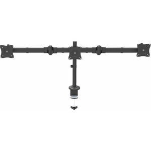 StarTech.com Desk Mount Triple Monitor Arm - Articulating - Steel - For VESA Monitors up to 24And#34;- Clamp/Grommet - 3 Monitor Stand ARMTRIO - 3 Displays Supported61