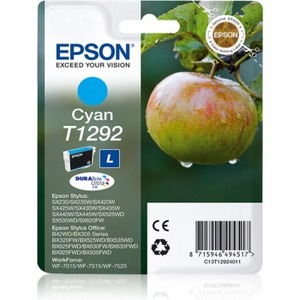 Epson DURABrite Ultra T1292 Ink Cartridge - Cyan - Inkjet - 445 Pages - 1 Pack