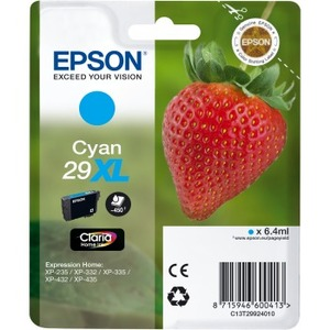 Epson Claria 29XL Original Ink Cartridge - Cyan - Inkjet - 450 Pages - 1 Pack