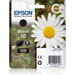 Epson Claria Home Ink Cartridge - Black - Inkjet - 175 Pages