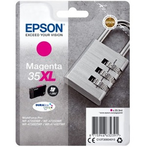 Epson DURABrite Ultra Ink 35XL Original Ink Cartridge - Magenta - Inkjet - 1900 Pages - 1 Pack