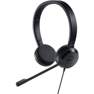 Dell Pro UC150 Wired Over-the-head Stereo Headset - Black - Supra-aural - 32 Ohm - 150 Hz to 7 kHz - USB
