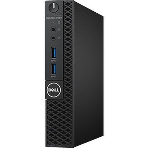 Dell OptiPlex 3050 Desktop Computer - Intel Core i3 7th Gen i3-7100T 3.40 GHz - 4 GB DDR4 SDRAM - 500 GB HDD - Windows 10 Pro 64-bit Multi Language - Micro PC -