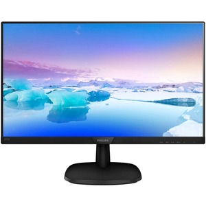 Philips V-line 243V7QDAB 24And#34; Full HD WLED LCD Monitor - 16:9 - Textured Black