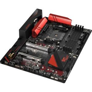 Fatal1ty X370 Gaming K4 Desktop Motherboard - AMD Chipset - Socket AM4 - 64  GB DDR4 SDRAM Maximum RAM - UDIMM, DIMM - 4 x Memory Slots - Gigabit