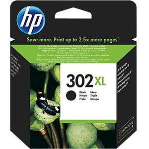 HP 302XL Original Ink Cartridge - Black - Inkjet - High Yield - 480 Pages Per Cartridge - 1 Pack