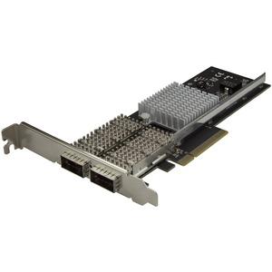 StarTech.com Dual Port 40G QSFPplus Network Card - Intel XL710 Open QSFPplus Converged Adapter PCIe 40 Gigabit Fiber Ethernet Server 40GbE NIC - Dual Port 40G Open QSFPplus N