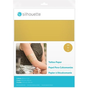 photo about Silhouette Printable Tattoo Paper titled Silhouette Printable Adhesive Paper