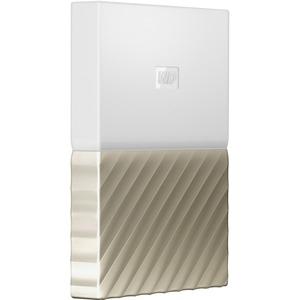 WD My Passport Ultra WDBTLG0020BGD-WESN 2 TB Hard Drive - External -  Portable - White, Gold