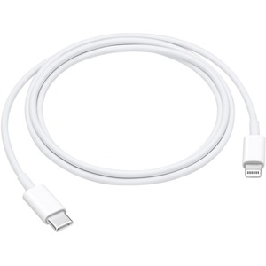 Apple 1 m Lightning/USB Data Transfer Cable for iPhone, iPad, iPod, Power Adapter, MAC - First End: 1 x Type C Male USB - Second End: 1 x Lightning Male Proprietary