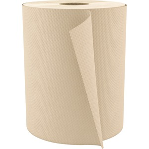"""Cascades PRO Select Hardwound Paper Towels - 1 Ply - 7.80"""" x 600 ft - Natural - Fiber Paper - Absorbent, Eco-friendly - For Hand, Industry, Food Service, Education, Restroom -"""