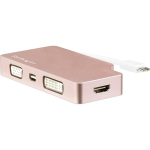 StarTech.com USB-C Multiport Video Adapter - 4-in-1 USB-C to DVI / HDMI / VGA / mDP Video Adapter - Rose Gold - 4K 30 Hz - CDPVDHDMDPRG - 4-in-1 USB-C multiport vide