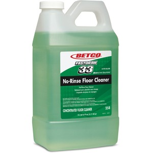 Betco FASTDRAW 33 No-Rinse Floor Cleaner - Concentrate Liquid - 0.50 gal (64 fl oz) - Rain Fresh Scent - 4 / Carton - Light Green