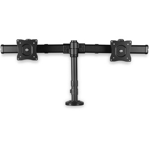 StarTech.com Desk-Mount Dual-Monitor Arm - For up to 27And#34; Monitors - Low Profile Design - Desk-Clamp or Grommet-Hole Mount - Double Monitor Mount - 2 Displays Suppo