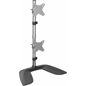 StarTech.com Vertical Dual Monitor Stand - For up to 27And#34; VESA Monitors - Aluminum - Height Adjustable - Tilt - Swivel - Dual Monitor Mount for 2 Monitor Desk Setup -