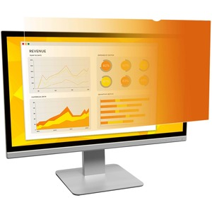 3M Privacy Screen Filter - Gold, Glossy - For 49.5 cm 19.5And#34; Widescreen Monitor - 16:9