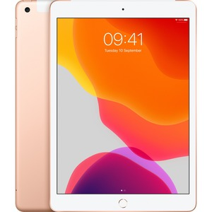 Apple iPad 7th Generation Tablet - 25.9 cm 10.2And#34; - 128 GB Storage - iPad OS - 4G - Gold - Apple A10 Fusion SoC - 1.2 Megapixel Front Camera - 8 Megapixel Rear Ca