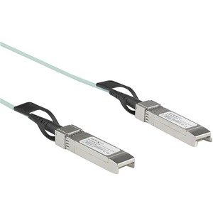 StarTech.com Dell EMC AOC-SFP-10G-5M Compatible SFPplus Active Optical Cable - 5 m - 10 GbE AOCSFP10G5ME - First End: 1 x SFPplus Male Network - Second End: 1 x SFPplus Mal