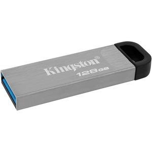 Kingston DataTraveler Kyson 128 GB USB 3.2 Gen 1 Type A Flash Drive - Silver - 200 MB/s Read Speed - 60 MB/s Write Speed - 1 Piece