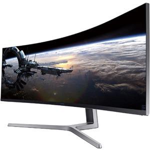 Samsung C49HG90DMU 48.9And#34; Curved Screen Quantum Dot LED LCD Monitor - 32:9 - Matte Black