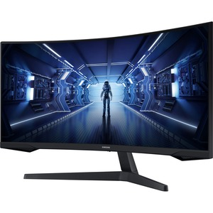 Samsung Odyssey G5 C34G55TWWR 34And#34; UW-QHD Curved Screen Gaming LCD Monitor - 21:9 - Black